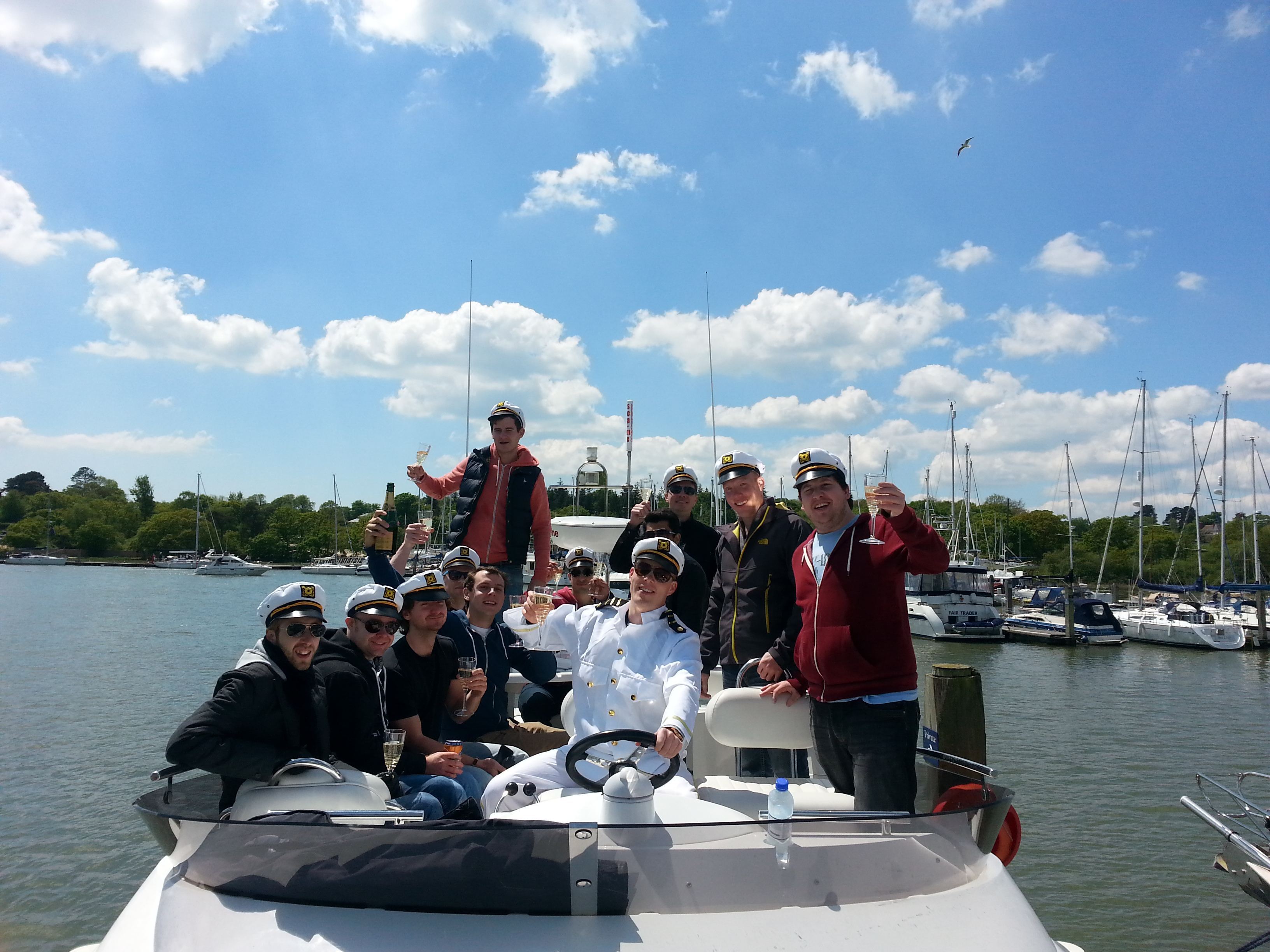 Stag Party On Solent Motor Boat