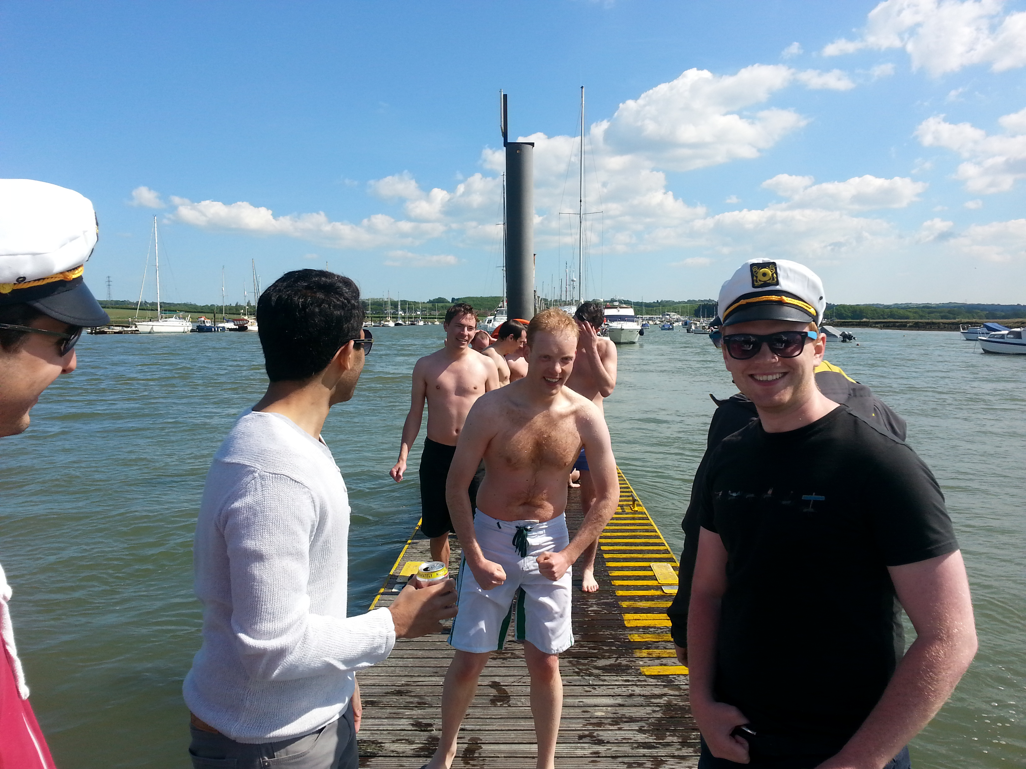 Stag Party Swimming On lsle Of Wight